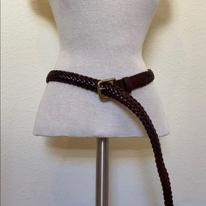 Lands end braided leather belt